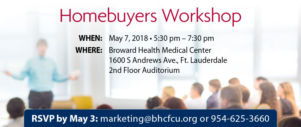 Upcoming workshops: Home Buyers Workshop