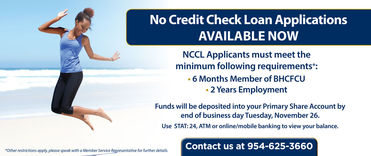 No credit check loan applications are now available