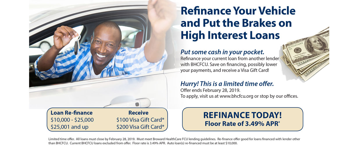 Refinance your vehicle and put the brakes on high interest rate loans